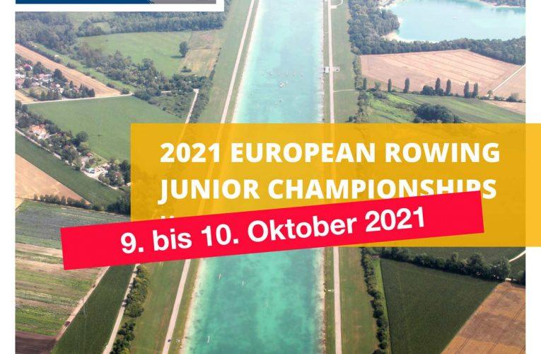European Rowing Junior Championships nun von 9. bis 10. Oktober 2021