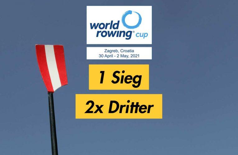 Weltcup Zagreb: 1 Sieg & 2x Dritter
