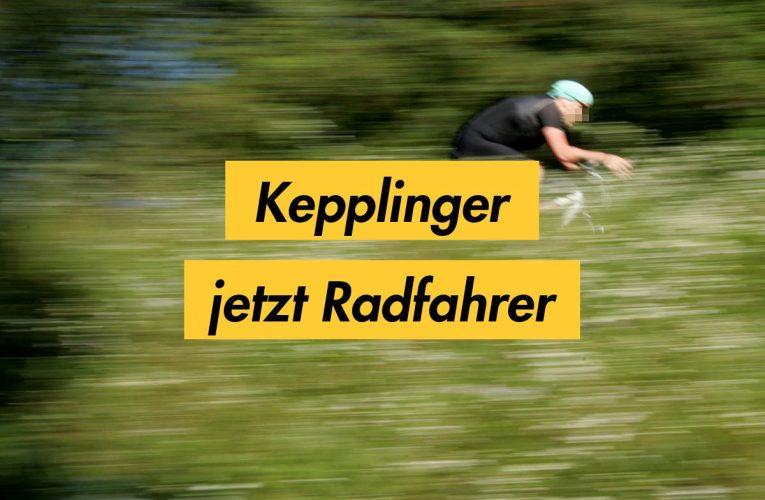 Rainer Kepplinger jetzt Radfahrer!